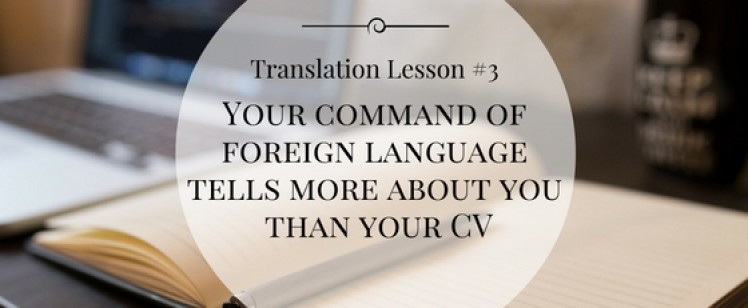 Foreign language – do you really know it?
